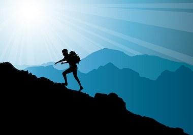 climbing-on-top-of-mountain