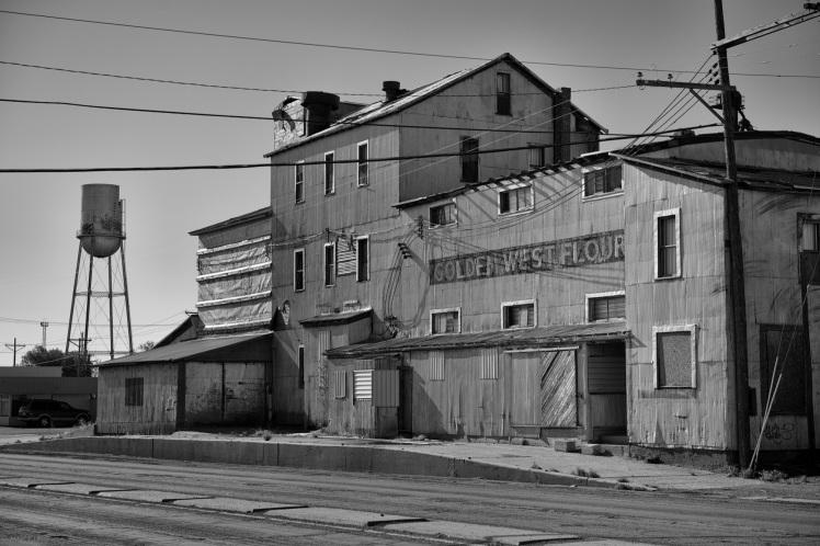 Architecture, Landscape, Mill, Black and White