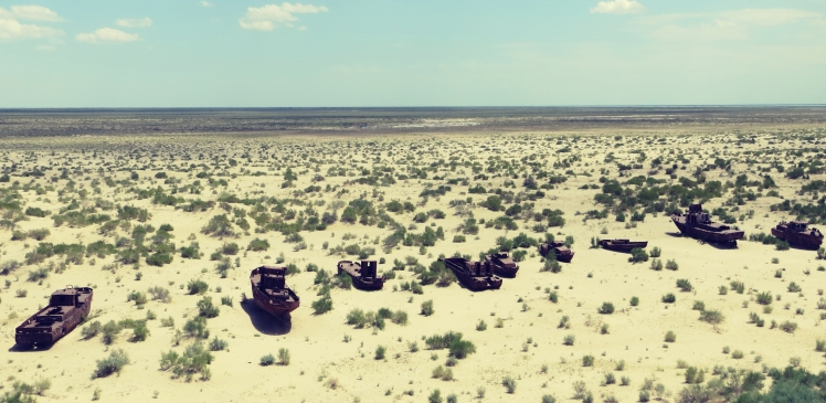 Ships Graveyard in the Desert of Moynaq, Uzbekistan